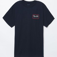 Brixton Grade T-Shirt - Mens Tee - Navy/Red