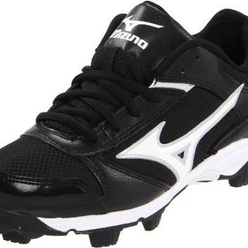 Mizuno Women's Finch Franchise 4 Softball Cleat,Black/White,8.5 M US