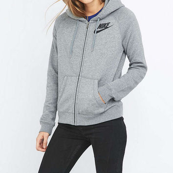Nike Rally Full Zip Grey Hoodie - Urban Outfitters