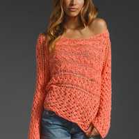 Free People Marigold Pullover in Hot Salmon from REVOLVEclothing.com