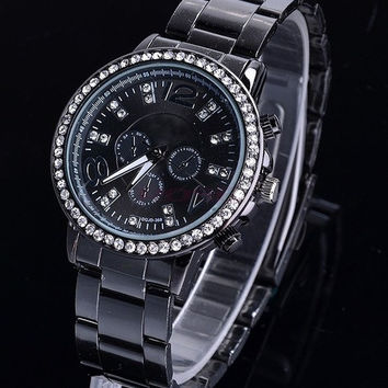 Brand New Quartz Watch Women Dress Watches Calendar Crystal Hours Steel Case Analog Ladies Wristwatch SV007328|26601 = 1956920580
