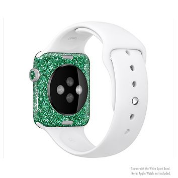 The Green Glitter Print Full-Body Skin Set for the Apple Watch