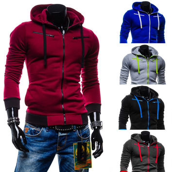 Hoodies Men's Fashion Men Casual Fleece Hats Jacket [6528676099]
