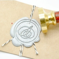 Personalized Ampersand And Wedding Gold Plated Wax Seal Stamp x 1