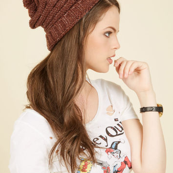 Sled Your Guard Down Hat in Mahogany | Mod Retro Vintage Hats | ModCloth.com