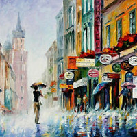 "Summer Downpour  — Oil Painting On Canvas By Leonid Afremov. Size: 40""x30"""