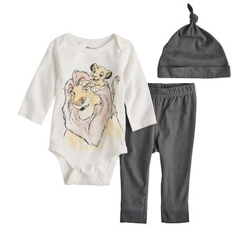Disney's The Lion King Baby Boy Graphic Bodysuit, Pants & Hat Set by Jumping Beans®