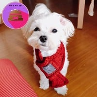 Winter Dog Scarf Warm Scarves for Small Medium Dogs Puppy Bow Tie Dogs Collars Pet Products Accessories 11cy20S2