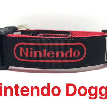 Nintendo, Dog Collar, Designer Dog Collar, Gamer, Nintendo Collar, Boy Dog Collar, Puppy Collar, Puppy, Video Games, Dog, Boy