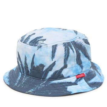 Visual by Van Styles Palms Reversible Bucket Hat - Mens Backpack - Blue - One