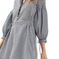 Topshop Gingham Smock Dress | Nordstrom