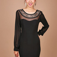 Beaded Collar Dress - Cocktail Dresses at Pinkice.com