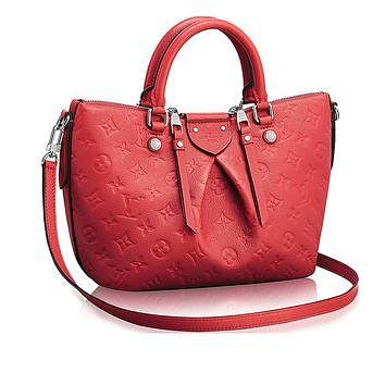 Tagre™ Authentic Louis Vuitton Mazarine PM Bag Handbag Article: M41768 Poppy Made in France