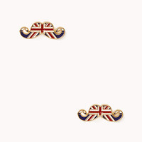 Quirky British Mustache Studs