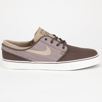 Nike Sb Zoom Stefan Janoski Leather Mens Shoes Brown  In Sizes