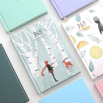 New 2018 Cute 365 Planner Notebook Daily happy Weekly Monthly Planner Agenda Day Plan Notebooks Journal Diary Stationery A5