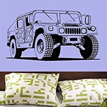 Wall Decal Vinyl Sticker Decals Art Decor Design Army Hummer Jeep Sport Car Auto Moto Speed Kids Style Gift Nursery Mans Bedroom (r563)