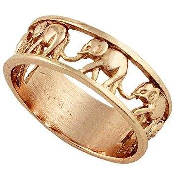 CloseoutWarehouse Sterling Silver Elephant Family Migration Ring 925 Color Options Sizes 415