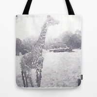 Giraffe painting Tote Bag by Elyse Notarianni