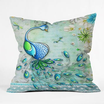 Madart Inc. Peacock Princess Throw Pillow