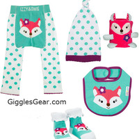 Aqua and White Fox Girls (Set of 5)