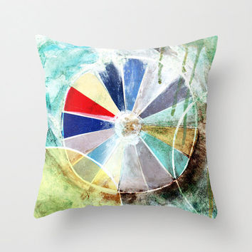 color wheel, art pillow, living room decor, abstract pillow, rustic decor, industrial, decorative pillow, industrial pillow, rustic pillow