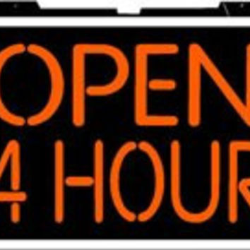 Open 24 Hours Backlit Illuminated Window Sign