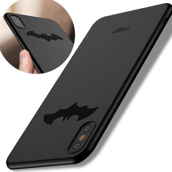 Luxury Batman Soft Silicone Case For iPhone X Coque 360 Protection High Quality TPU Phone Case For iPhone 8 / 8 Plus Cover New