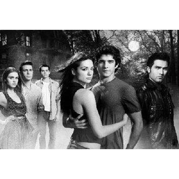 Teen Wolf Mtv poster Metal Sign Wall Art 8in x 12in Black and White