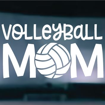 Volleyball Mom Vinyl Graphic Decal