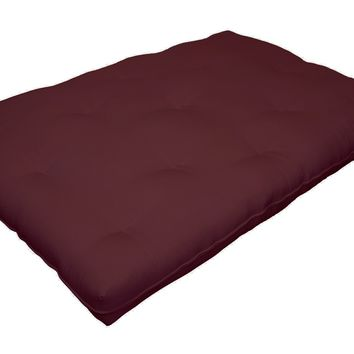Replacement Futon Pad With Upholstery, Full-Size, Red