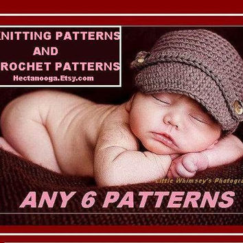 SALE -Crochet Patterns, Knitting Patterns,  hats, scarf, shrug, slippers, baby, teen, children, boy, girl, clothing, accessories