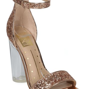Glitter Rose Gold Single Sole Heel