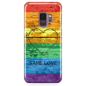 Lgbt Same Love Rainbow Flag Samsung Galaxy S9 Case | Casefantasy