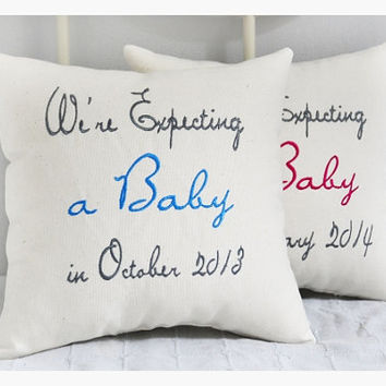 Expecting a baby boy, expecting parents pillow, expecting parents gift , expecting gift pillow, expecting mom and dad gift, baby pillow