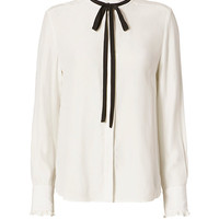 FRAME EXCLUSIVE Contrast Tie Ruffle Blouse - INTERMIX®
