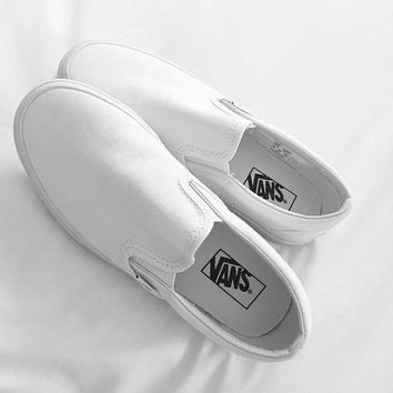 Vans Black/White Classic Canvas Leisure Shoes