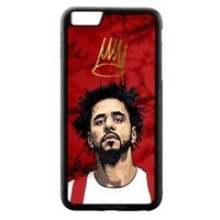 J Cole Red Marble iPhone Samsung 5 5s 6 6s 7 8 X Plus Edge Hard Plastic Case