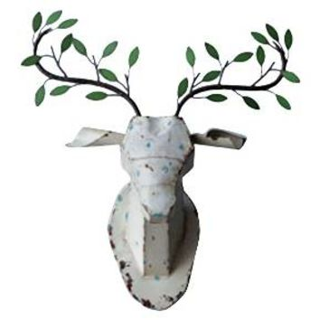 Metal Deer Head with Branch Antler Wall Décor : Target