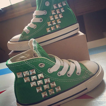 Toddler Custom Studded Converse! ALL SIZES & COLORS!! Chuck Taylor Custom Shoes; Toddler Chucks; Toddler Shoes; Baby Converse; Kids Converse