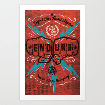 ENDURE FIST Art Print by Endure Brand