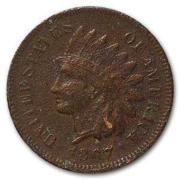 1867 Indian Head Cent VF Details