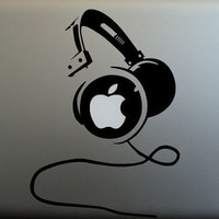 Headset  mac decal mac book mac book pro mac book air Ipad mac sticker