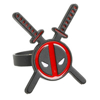 Marvel Deadpool Swords Logo Ring