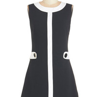 Sleeveless A-line Lunching in London Dress
