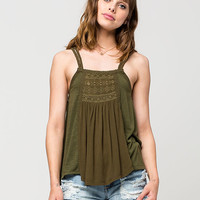 TAYLOR & SAGE Braided Strap Womens Tank | Tanks