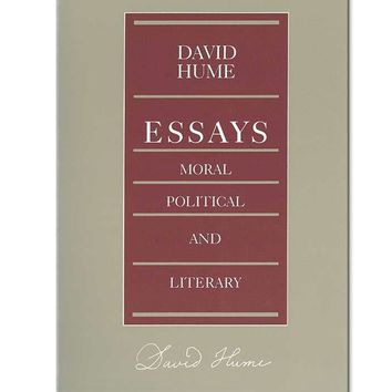 David Hume Essays Paperback Book