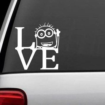 Despicable Me Minion Love Decal Sticker Vinyl for Car Truck Bumper Window Laptop