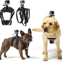 Go Pro Accessories Hound Adjustable Dog Fetch Harness Chest Strap Belt Mount For GoPro Hero 4/3+/3/2/SJ4000 Action Sport Camera