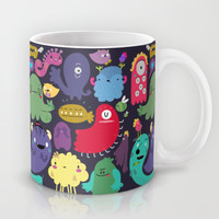 Colorful creatures Mug by Maria Jose Da Luz